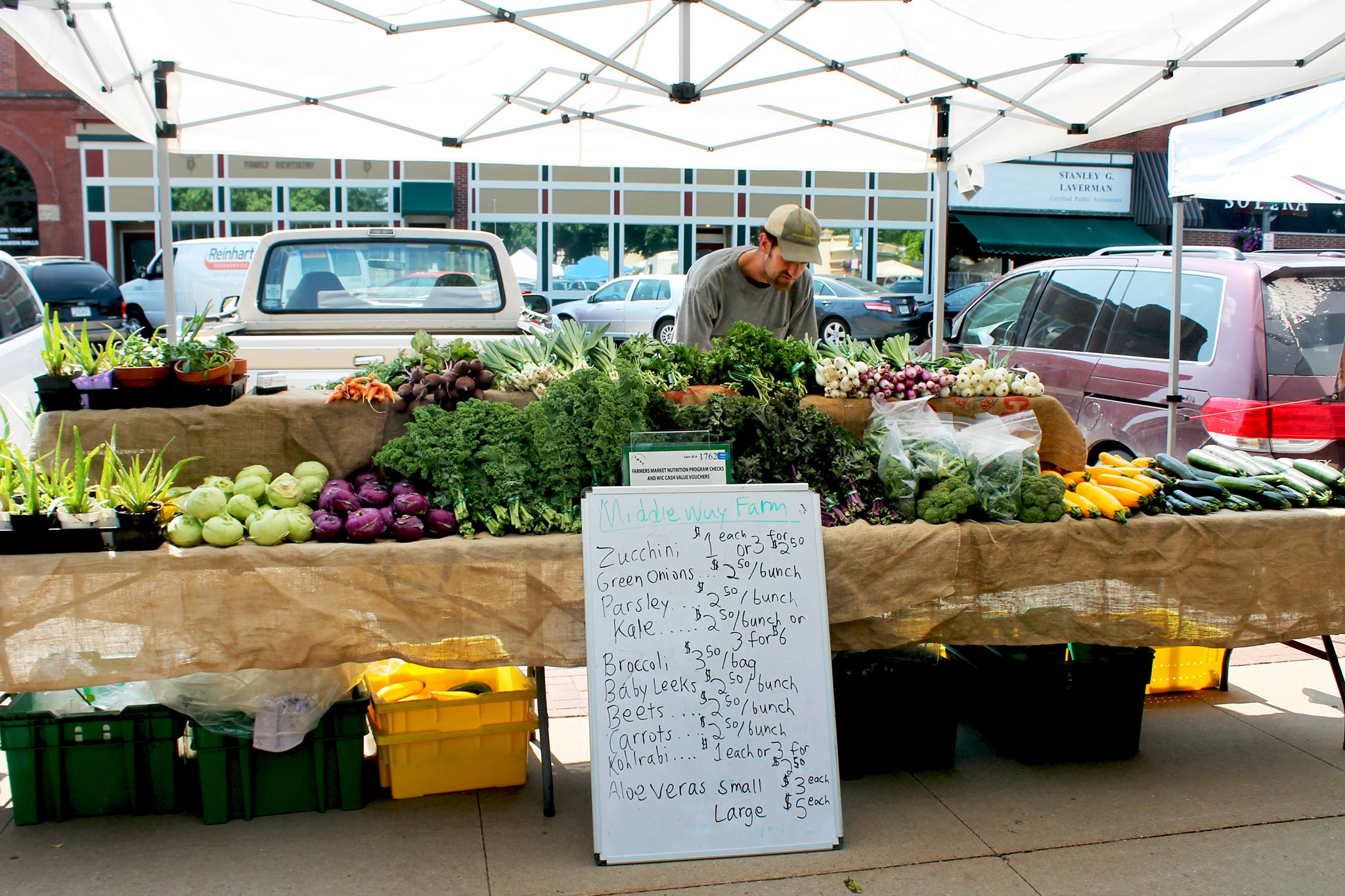 Grinnell Farmers Market Produce Vendor