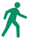 walking man icon