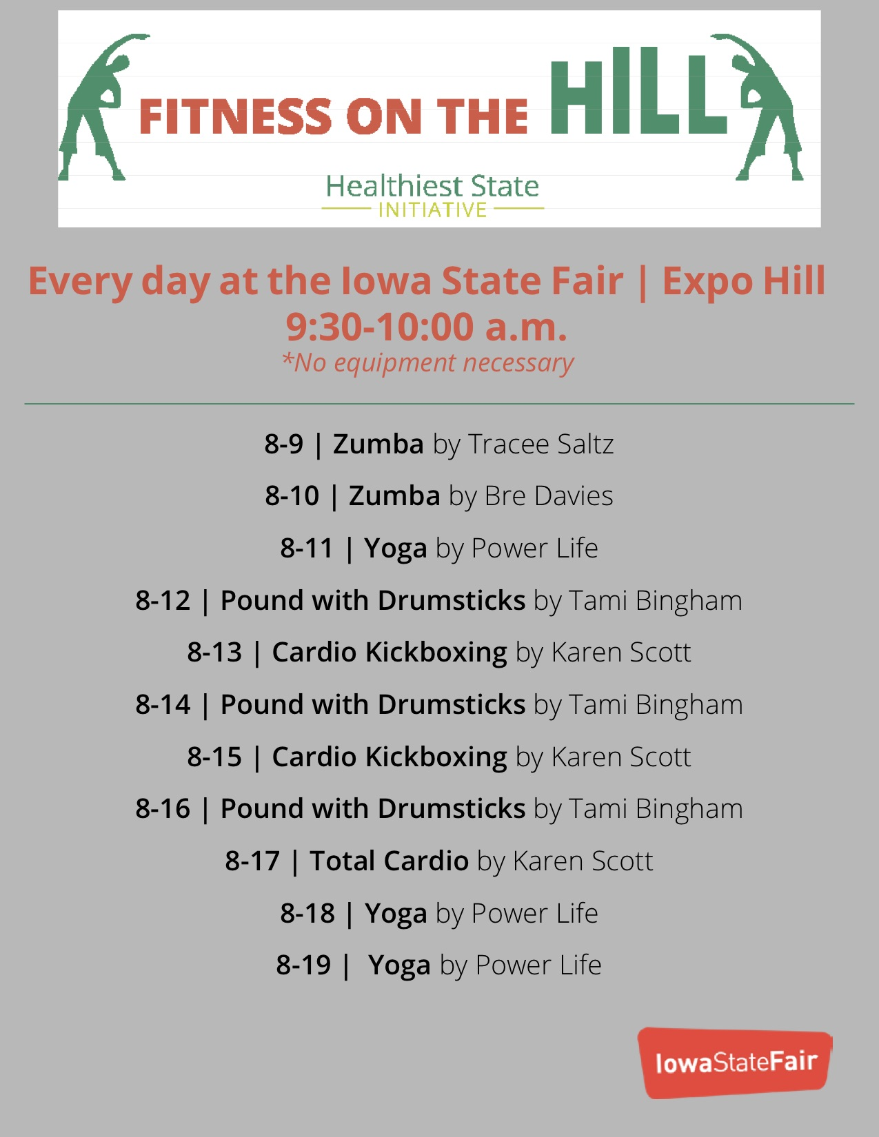 fitness on the hill schedule