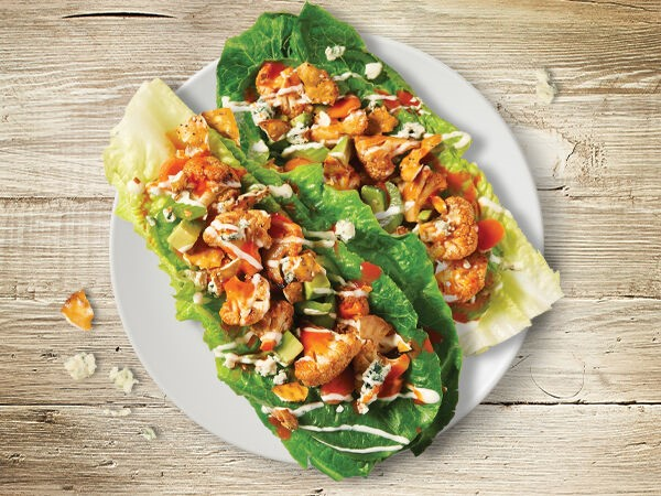 Recipe: Buffalo Cauliflower Lettuce Tacos