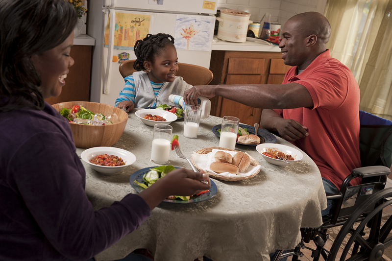 Raise your mitt and commit to more family meals this month